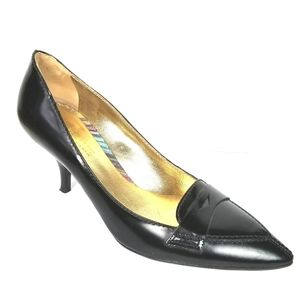 Missoni Italy Classic Black Leather Pump size 36.5